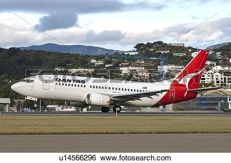 Stock Images of JetConnect Qantas Boeing 737.