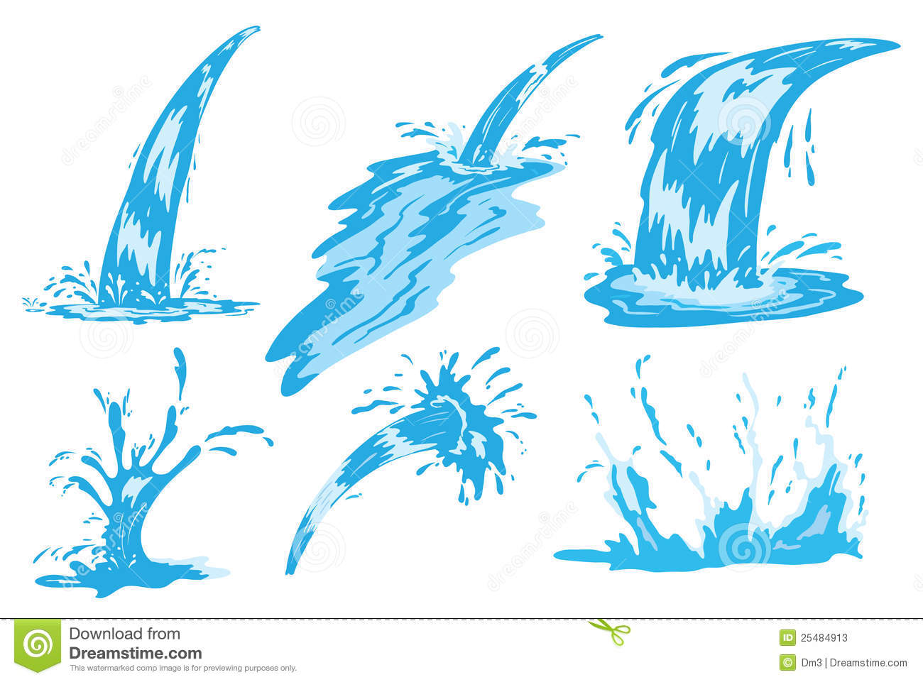 Water jet clipart.