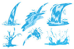 Water Crown Stock Illustrations.