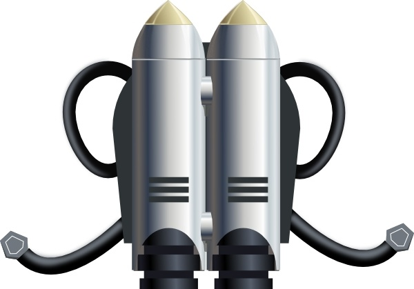 Individual Jet Pack clip art Free vector in Open office drawing.