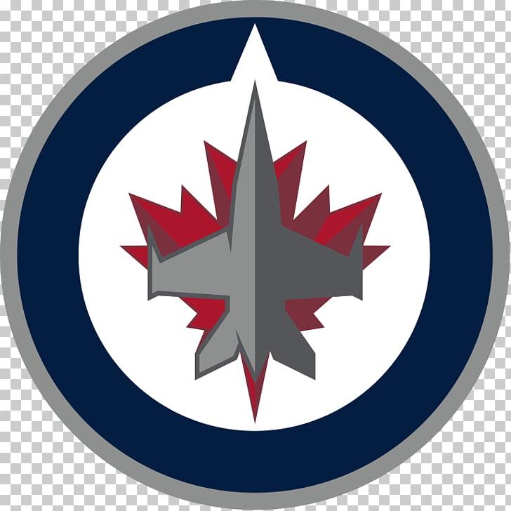 Winnipeg Jets Logo, white and blue logo illustration PNG.
