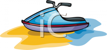 Clipart Picture of a Jet Ski.