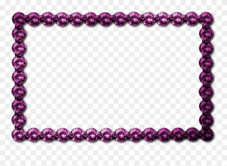 Download Pink Jewel Border Png Clipart Clip Art Purple.
