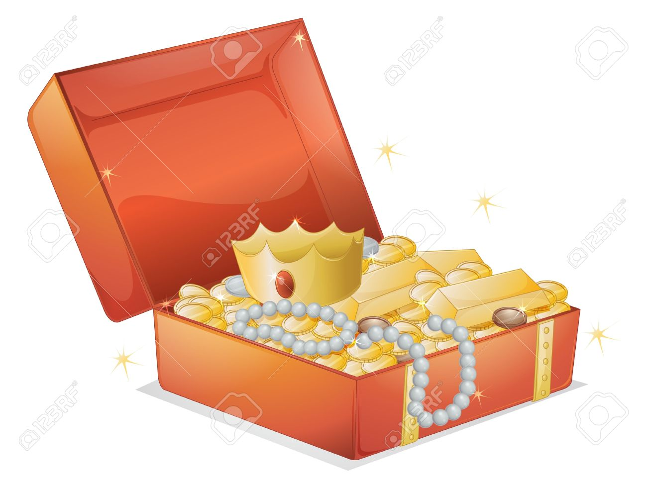 Jewelry box with jewelry clipart.