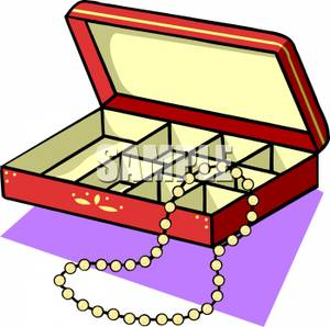 Jewelry box clipart.