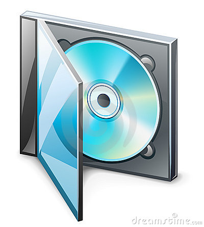 Cd In Case Clipart.