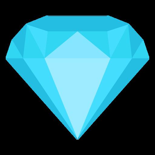Diamond jewel flat icon.