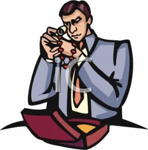 Clipart Picture of a Jeweler.