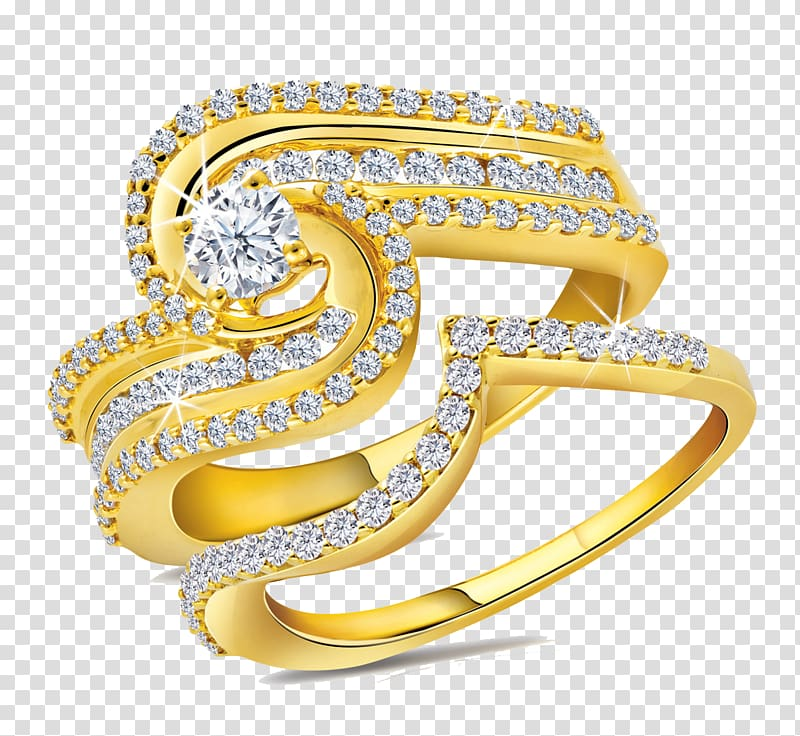 Jewellery Gold Ring Diamond, Gold Rings File transparent.