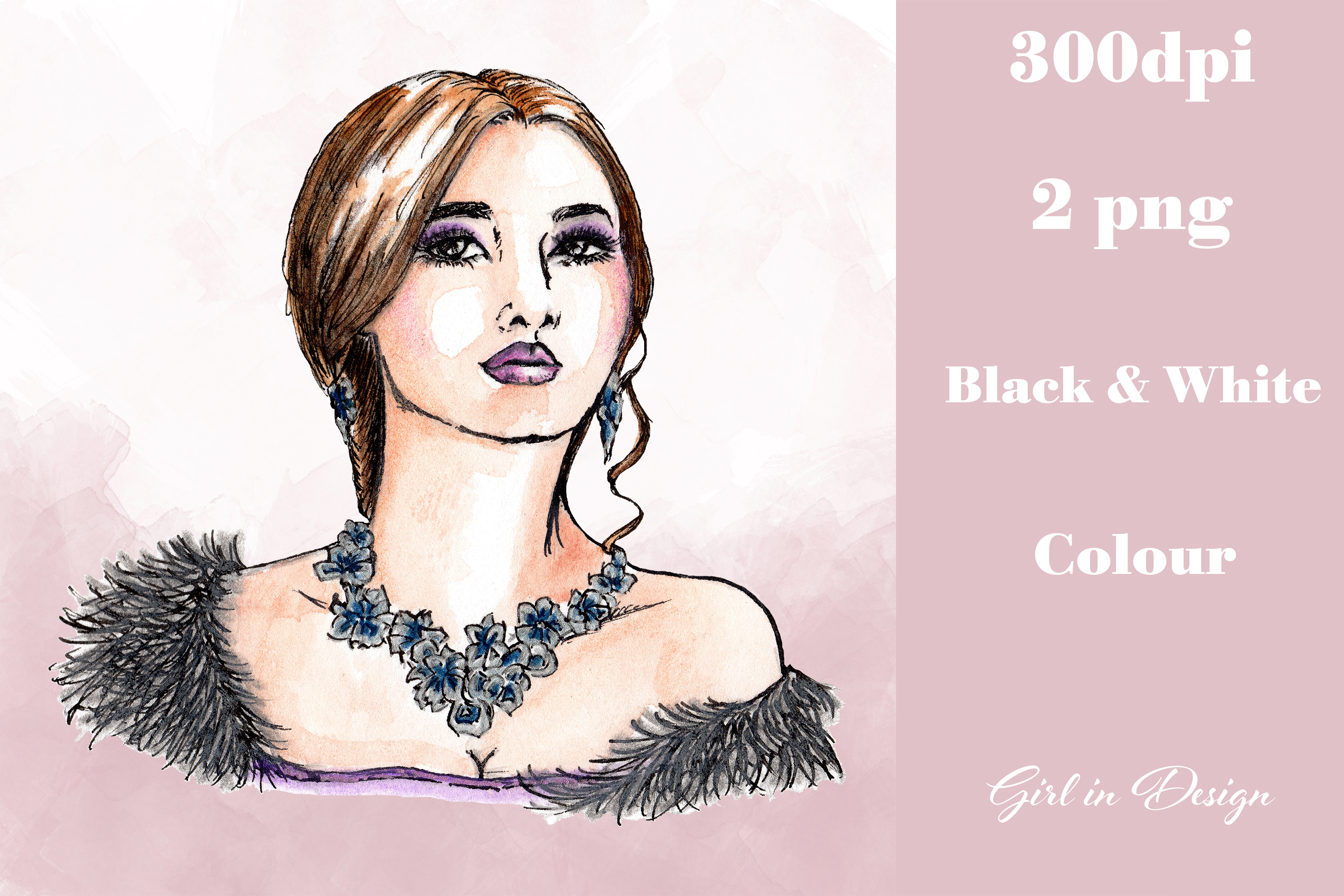 Necklace Girl Jewellery Party New Year Clipart.