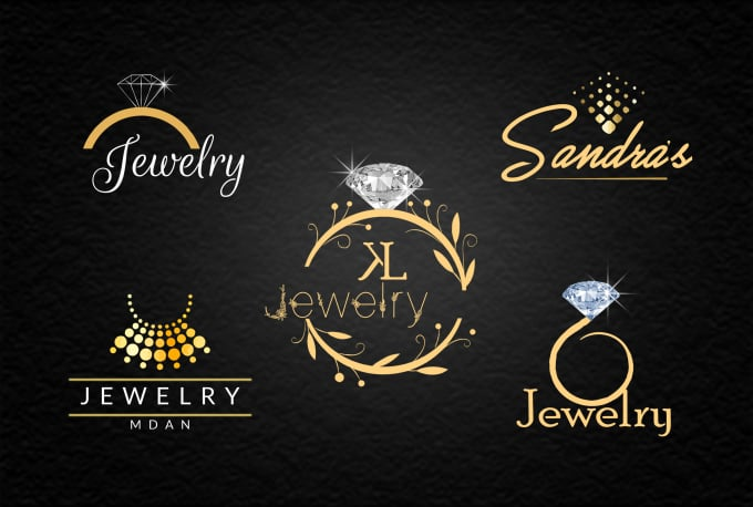 make jewelry shop ,luxury,golden and glitter logo design company.