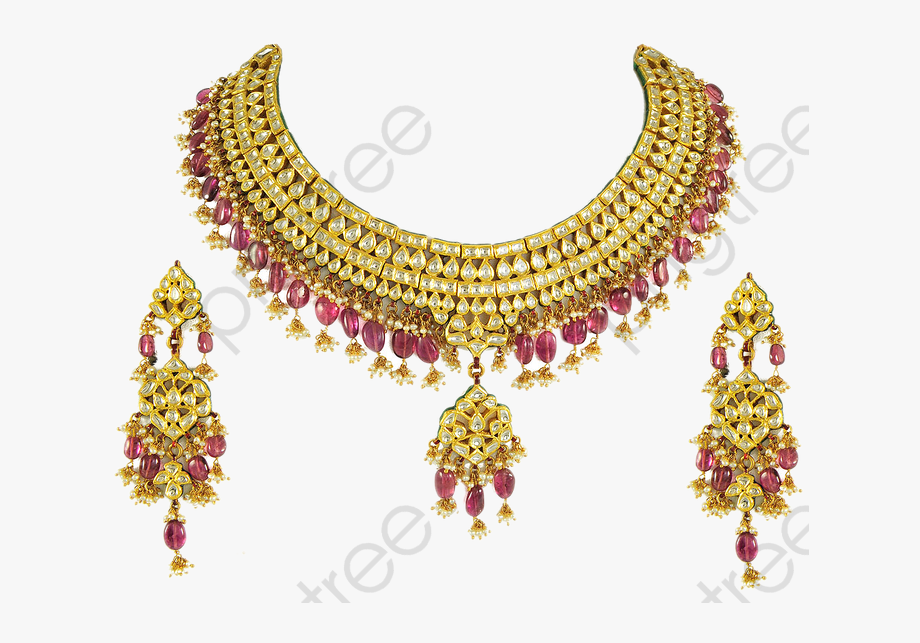 Gold Jewellery Set Png.
