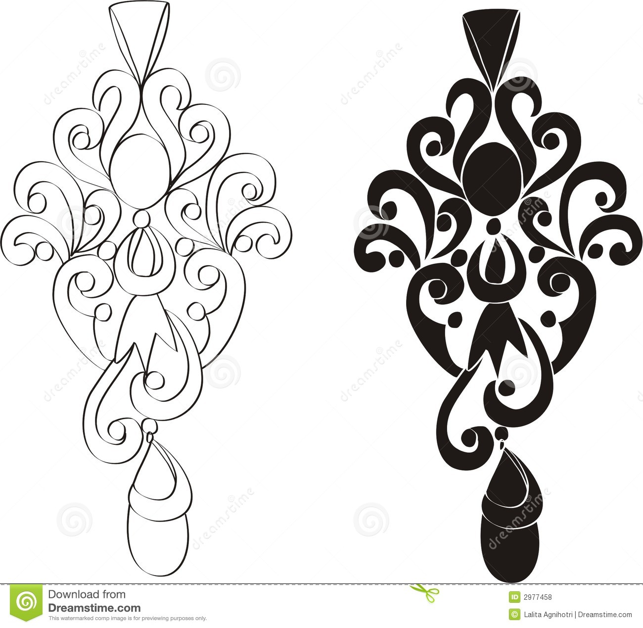 Line Art Earrings : Jewellry clipart clipground