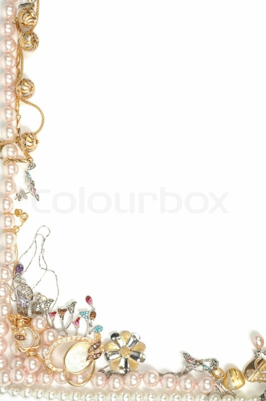 Jewelry clipart border.