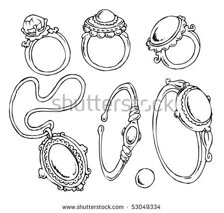 Cartoon Jewelryclipart Stock Vector 53049334.
