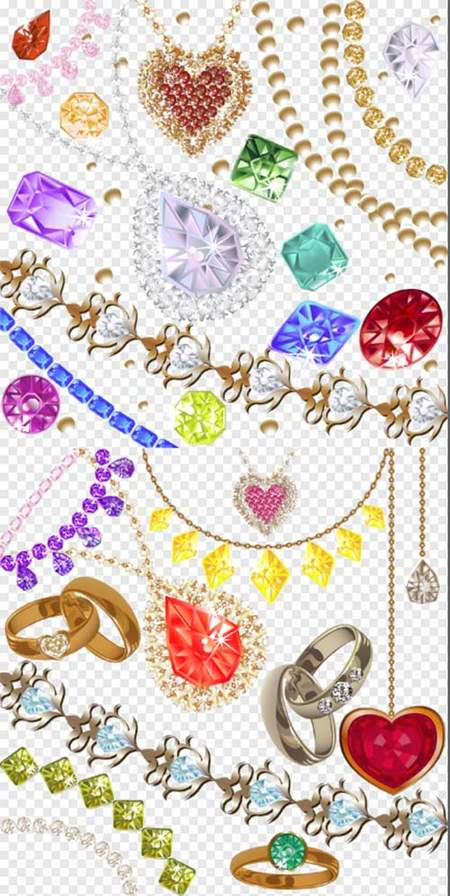 Jewelry Clipart psd.