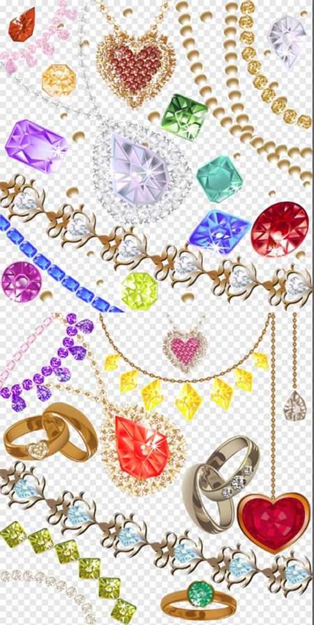 Jewelry Clipart psd.