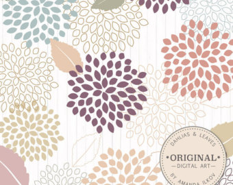 Lucy Dahlia Clipart & Vectors in Modern Chic.