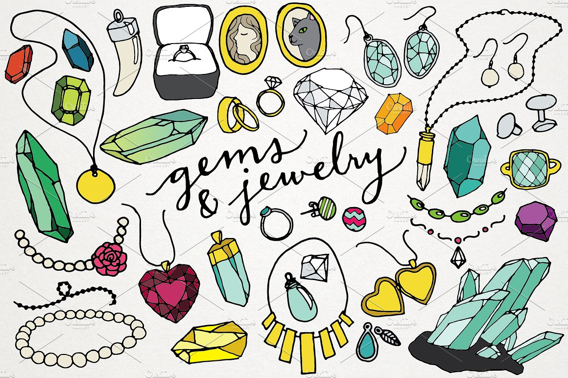 Jewelry clipart Photos, Graphics, Fonts, Themes, Templates.