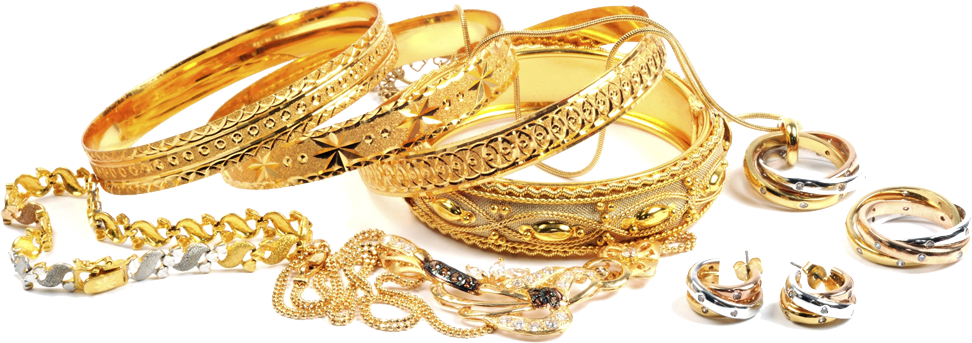 Gold Jewelry Png.