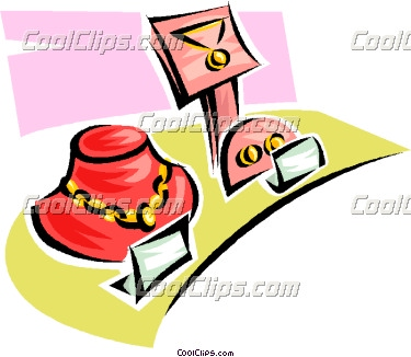 Jewelry Shopping Clipart.