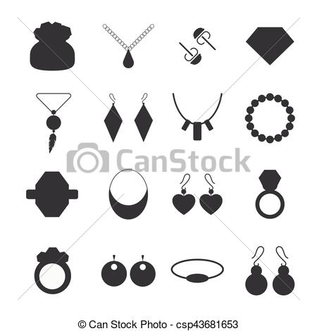 Silhouette jewelry accessories.