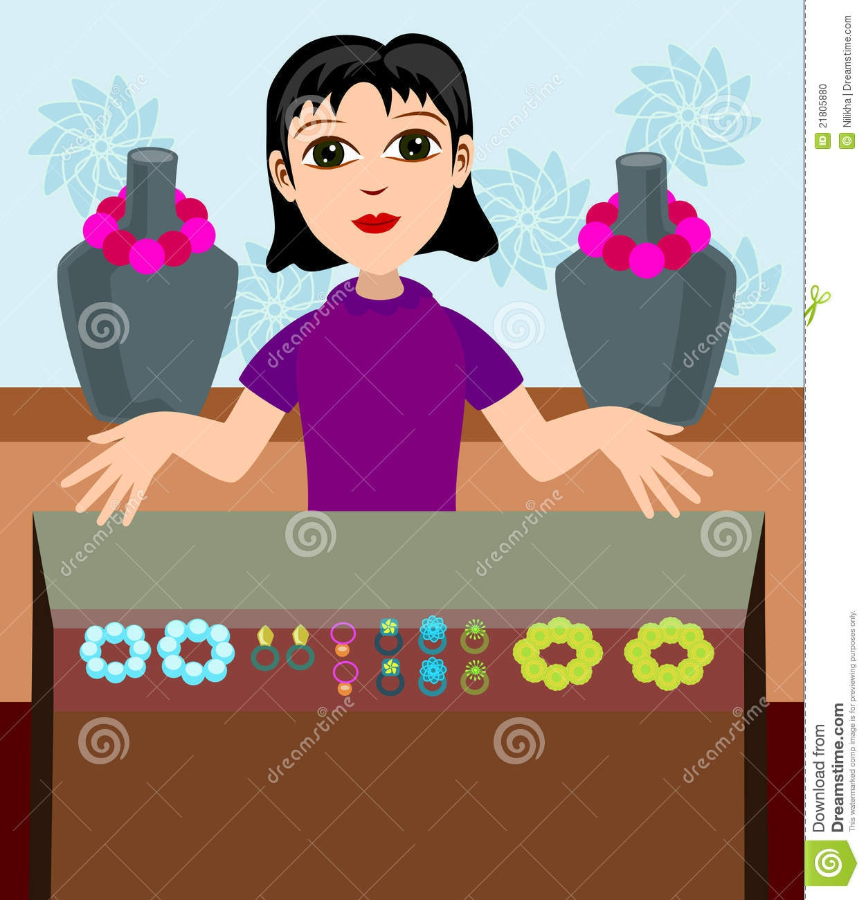 Clip Art Jewelry Display Clipart#2002110.