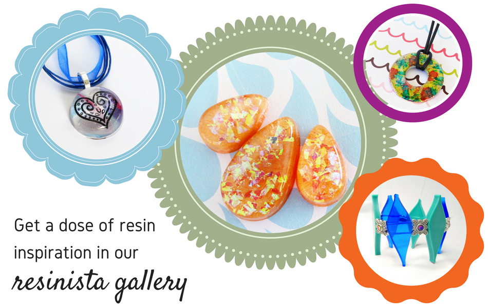 Resin jewelry making supplies.