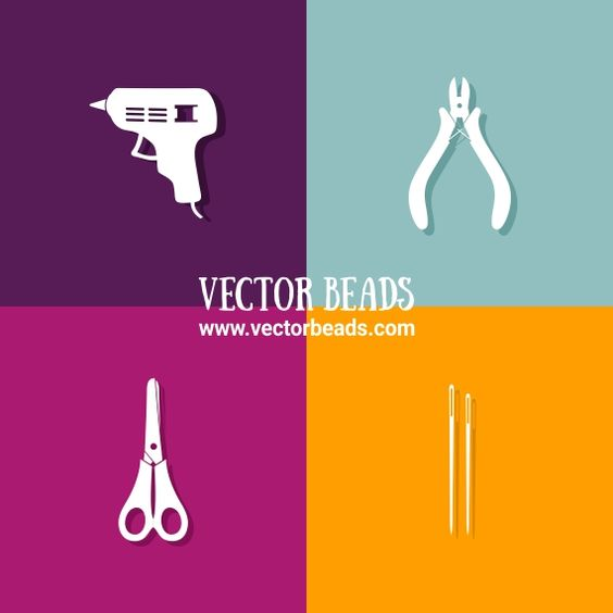 Vector illustration of jewelry making tools.