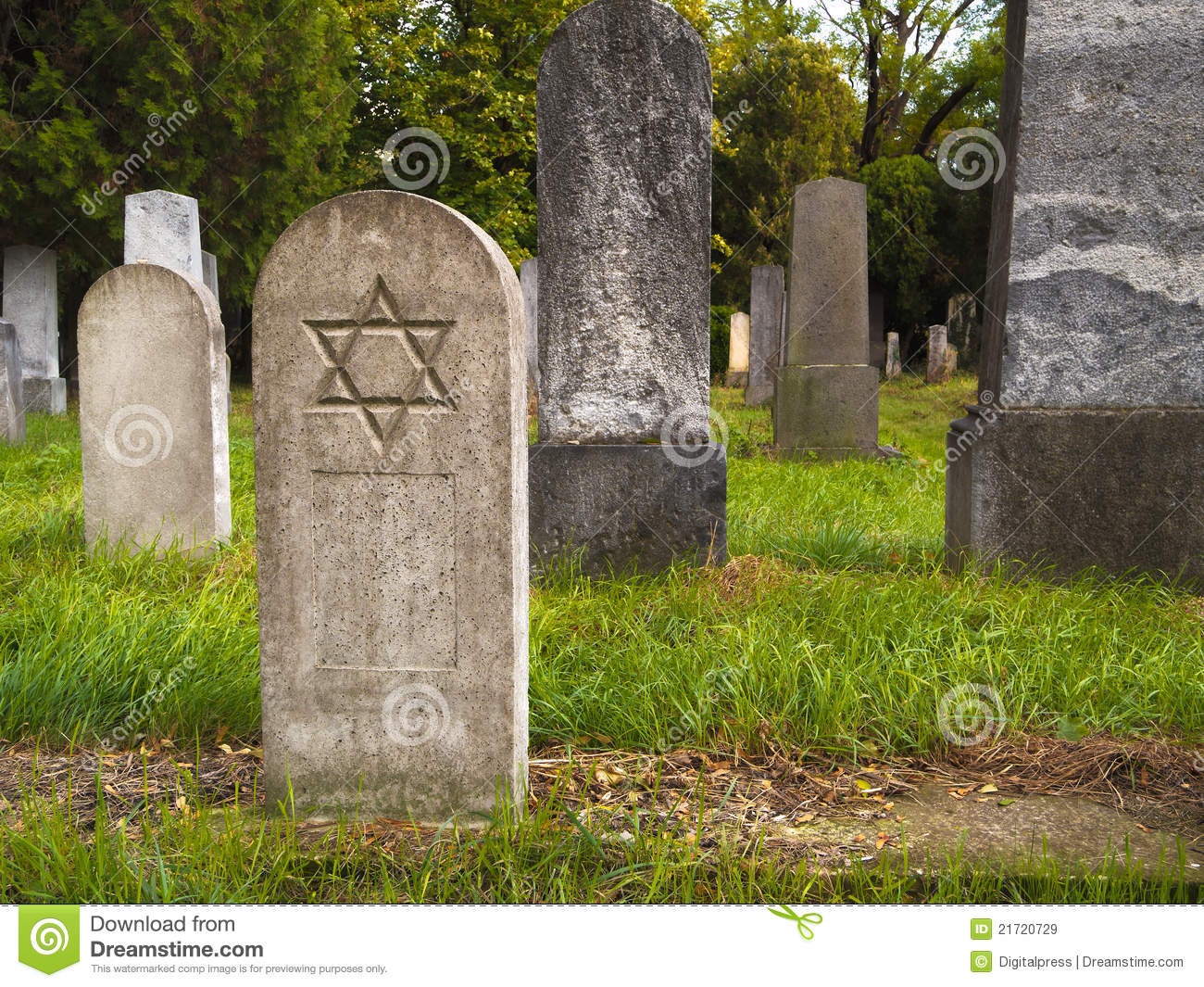 Jewish Cemetery Royalty Free Stock Images.
