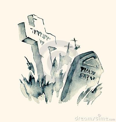 Jewish Cemetery Stock Illustrations.