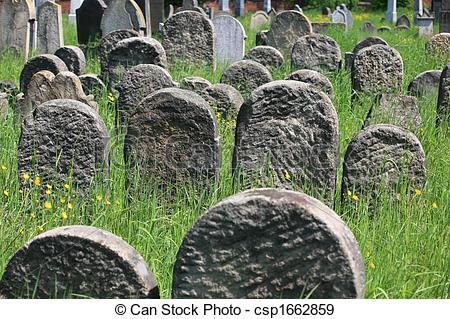Stock Photographs of Old jewish cemetery.