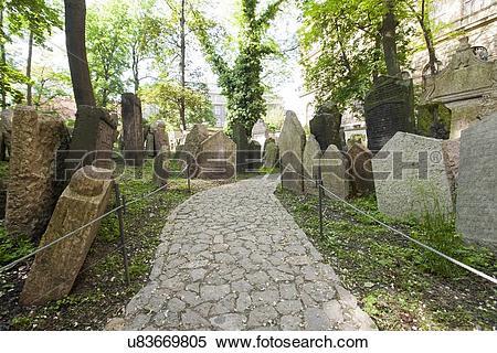 Stock Image of Pathway in Jewish cemetery u83669805.