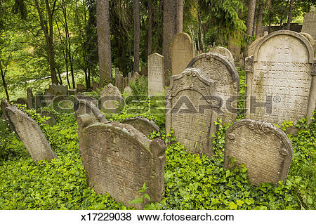 Pictures of Jewish Town. Tombs in the Jewish Cemetery x17229038.