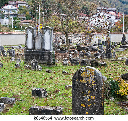 Stock Photo of Old Jewish Cemetery k8546554.