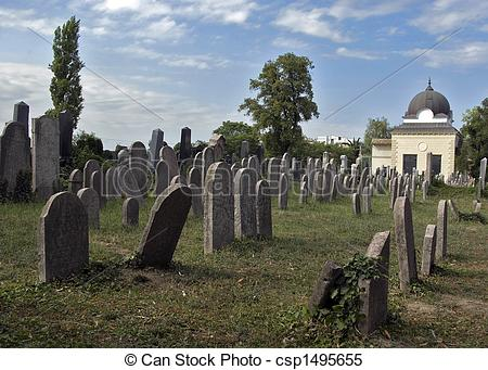 Stock Images of Jewish cemetery.