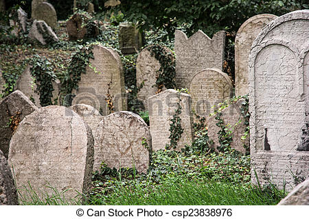 Picture of Jewish cemetery in Prague.