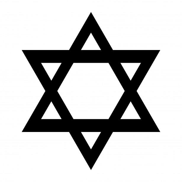 Free Jewish Clipart Images: Star of David.
