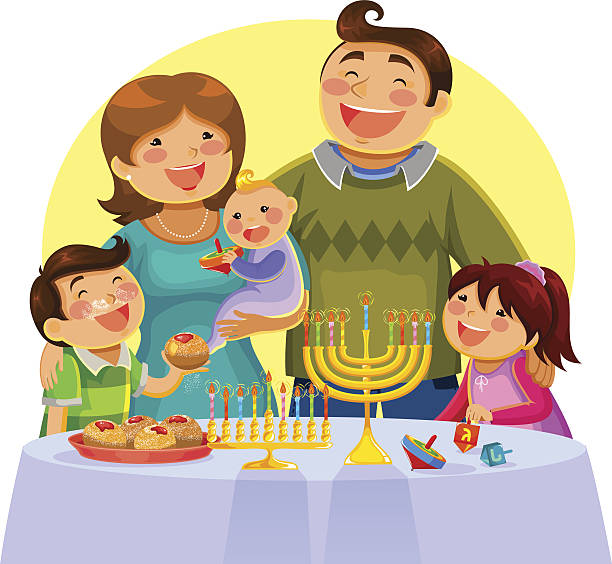 Best Jewish Family Illustrations, Royalty.