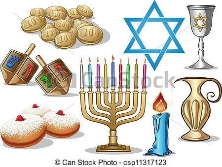 Hanukkah Symbols Pack.