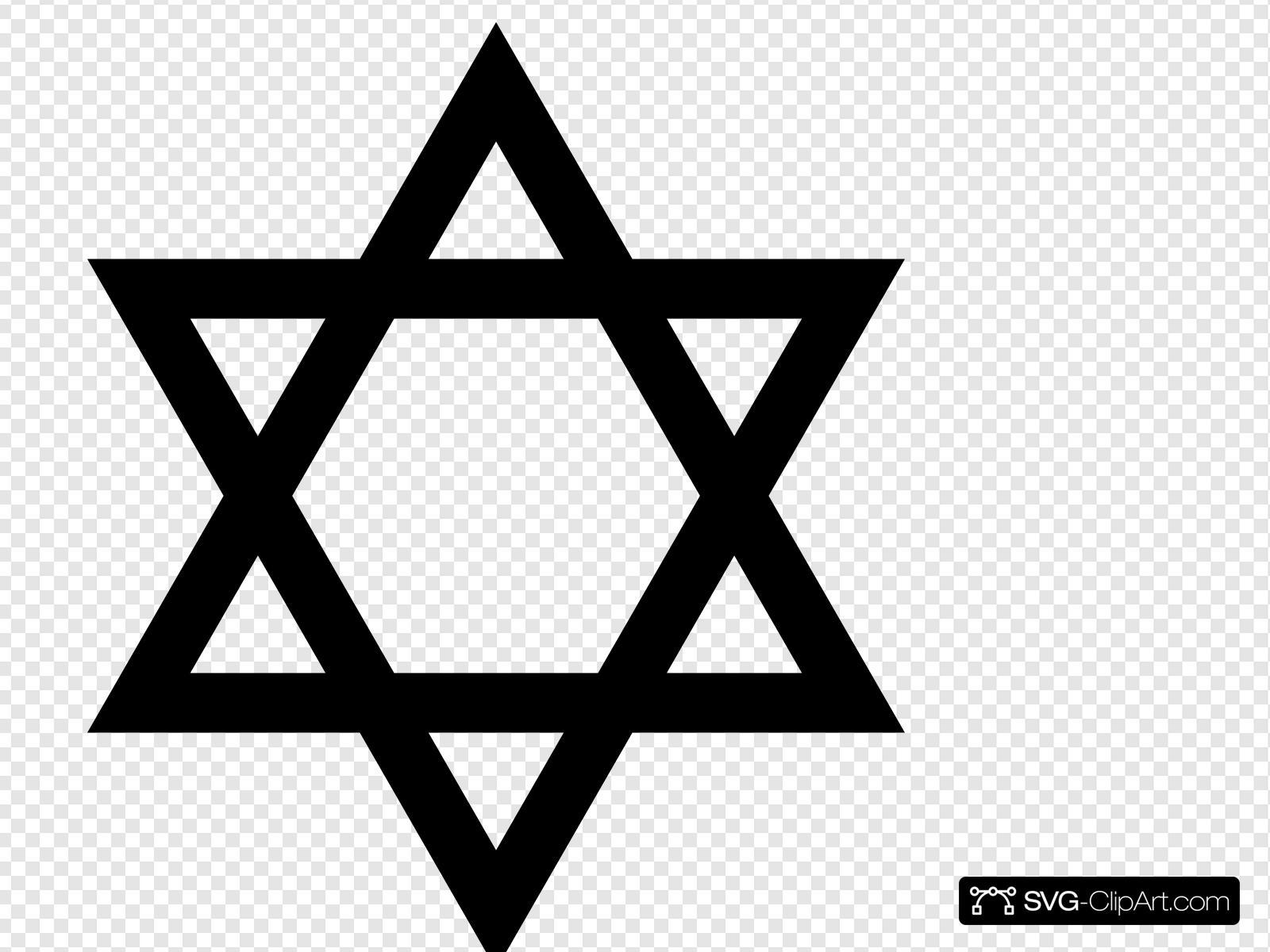 Jewish Star Clip art, Icon and SVG.