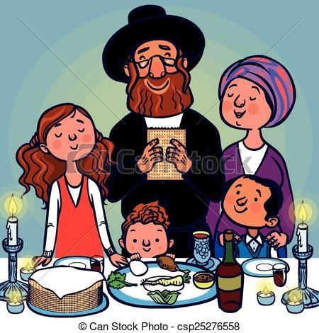 Jewish Family Clipart.