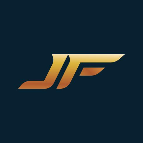 letter JF Logo. speed design concept template.