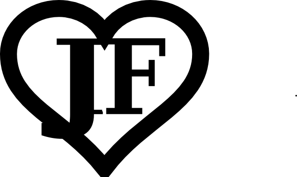 Heart Outline Initials Jf Clip Art at Clker.com.