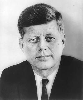 Clipart of President John F. Kennedy.