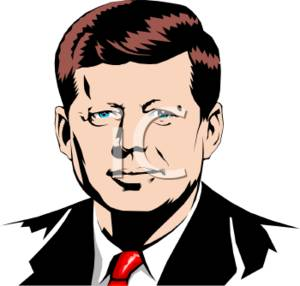 Clipart Picture of John F. Kennedy.
