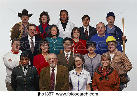 Picture of Group of professional people. Also have same people in.