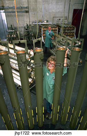 Stock Photo of Chaparral rocket motors being assembled at Atlantic.