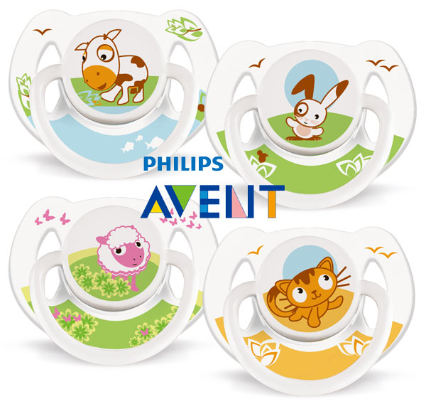 PHILIPS AVENT no bisphenol A cartoon silicone pacifier 2 into 6M +.