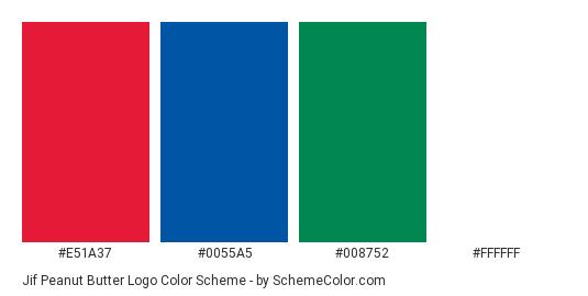 Jif Peanut Butter Logo Color Scheme » Blue » SchemeColor.com.